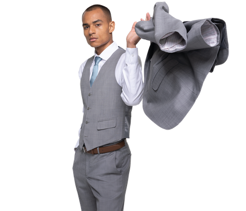 Generation Tux model in stylish suit rental