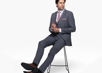 Generation Tux model in Iron Gray wedding suit