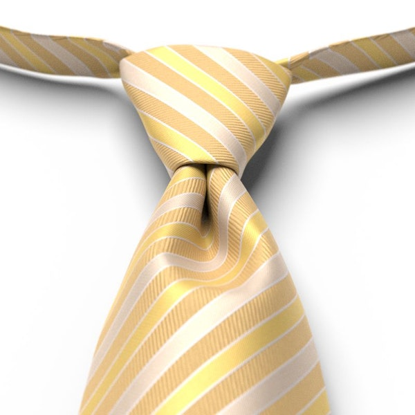 Gold Striped Pre-Tied Tie