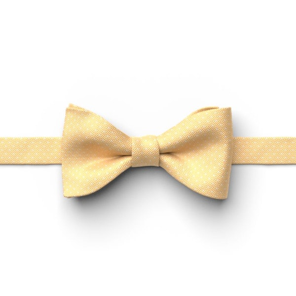 Gold Pin Dot Pre-Tied Bow Tie