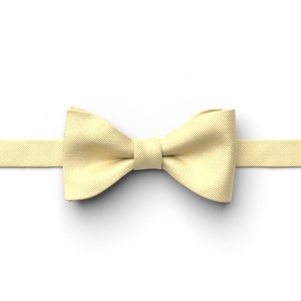 Canary Pin Dot Pre-Tied Bow Tie