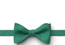Emerald Pin Dot Pre-Tied Bow Tie