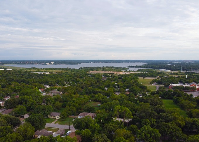 Lake Arlington and surrounding forest lands