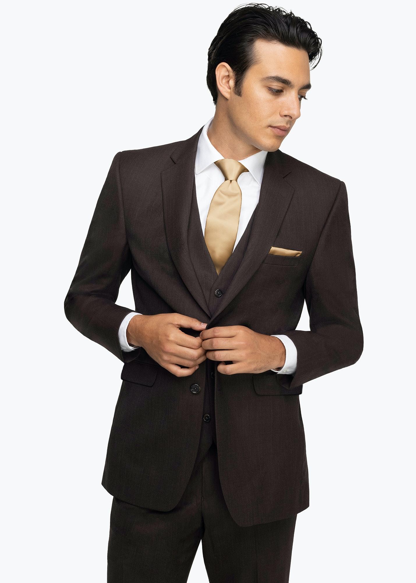 Model in Allure Dark Brown Suit