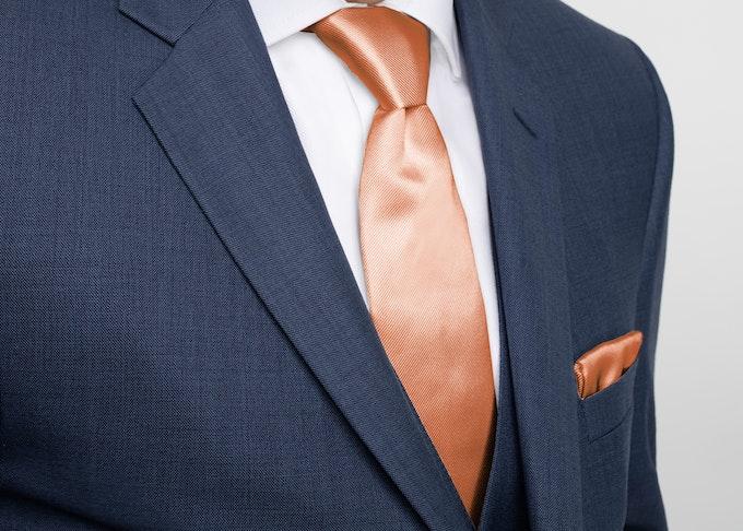 Allure Dark Blue Suit with tied tie