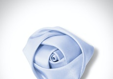 Ice Blue Rose Lapel Pin