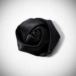 Black Rose Lapel Pin
