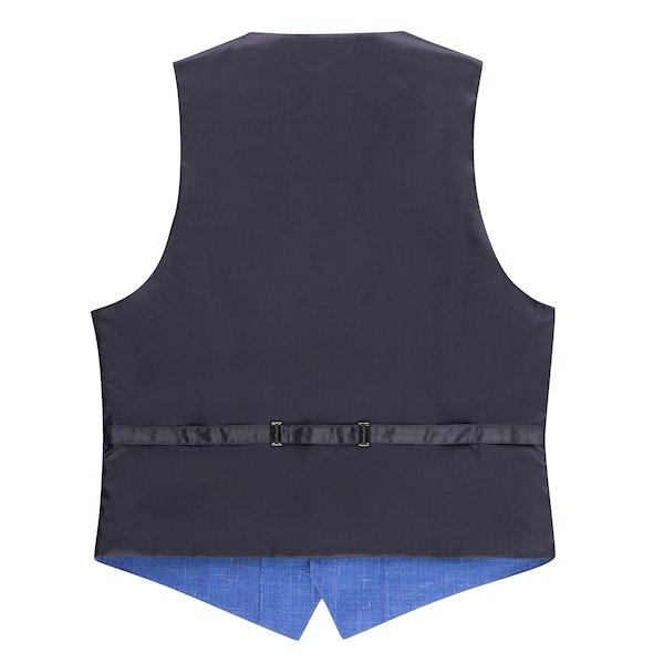 Blue Chambray Suit Vest