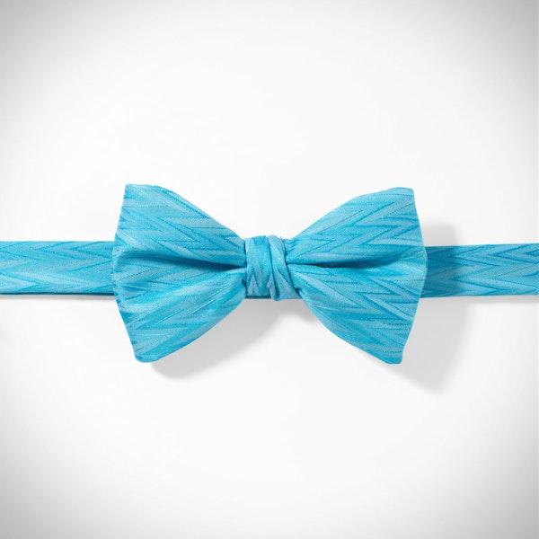Malibu-Aqua Zig Zag Pre-Tied Bow Tie