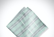 Mint Plaid Pocket Square