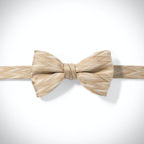 Toffee Zig Zag Pre-Tied Bow Tie