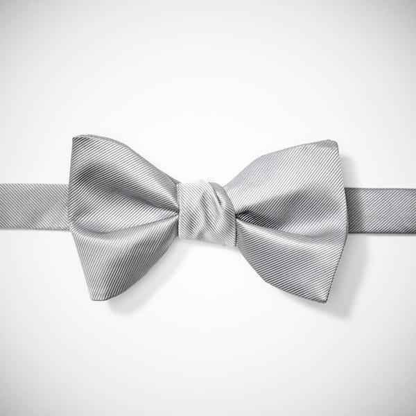 Platinum Pre-Tied Bow Tie
