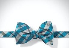 Pacific Plaid Pre-Tied Bow Tie