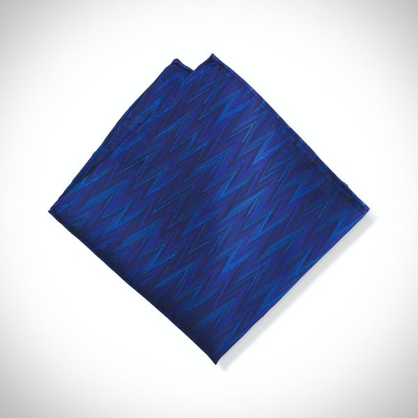 Horizon Zig Zag Pocket Square