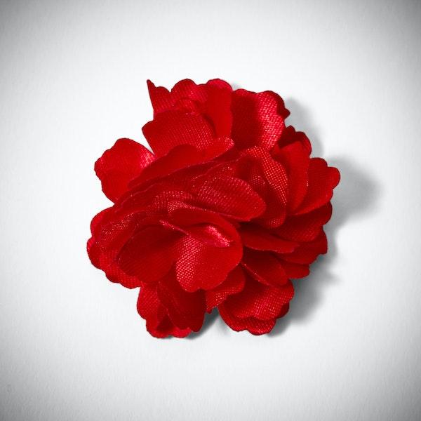 Ruby Valentino Carnation Lapel Pin