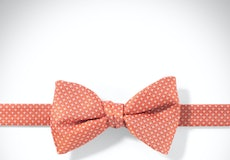Jalepeno and White Pin Dot Pre-tied Bow Tie