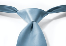 Steel Blue Pre-Tied Tie