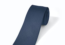 Navy Textured Microsquare Tie