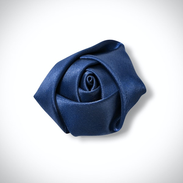 Dark Navy Rose Lapel Pin