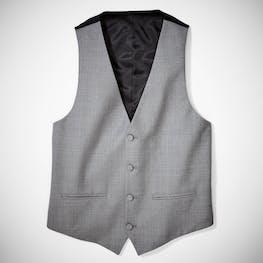 Light Gray Tuxedo Vest