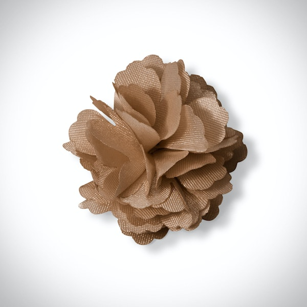 Toffee Carnation Lapel Pin