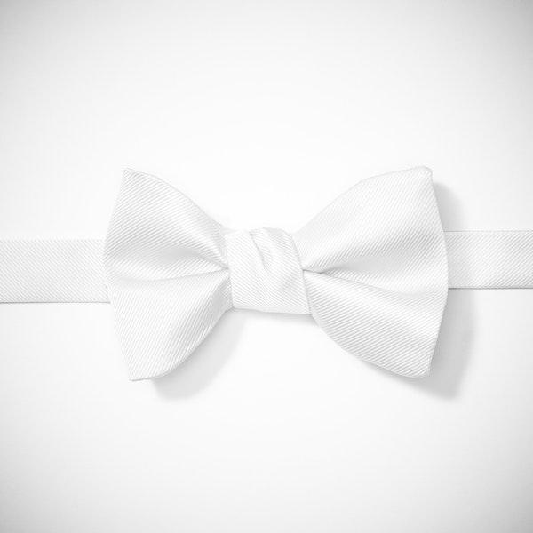 White Pre-Tied Bow Tie