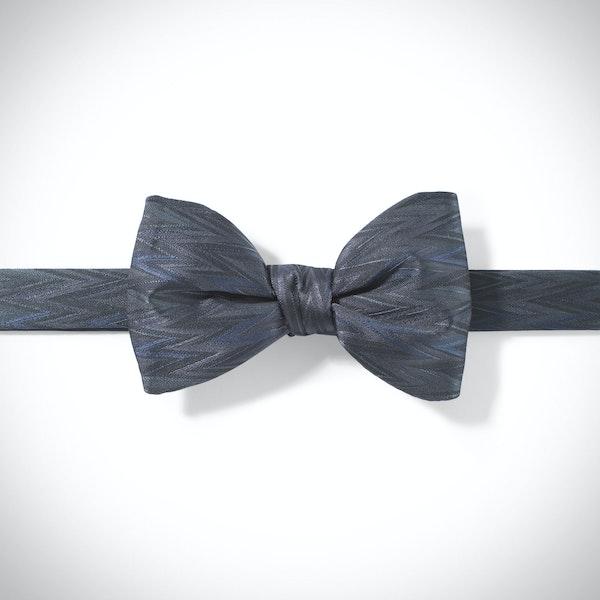 Pewter Zig Zag Pre-Tied Bow Tie