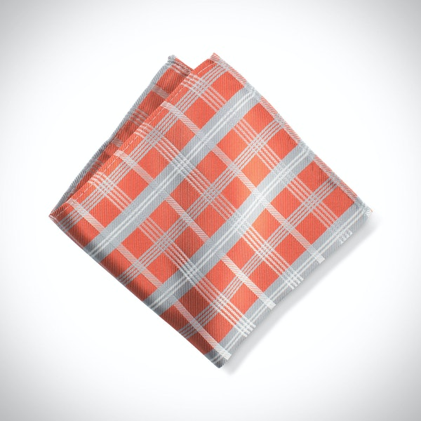 Jalapeno Plaid Pocket Square