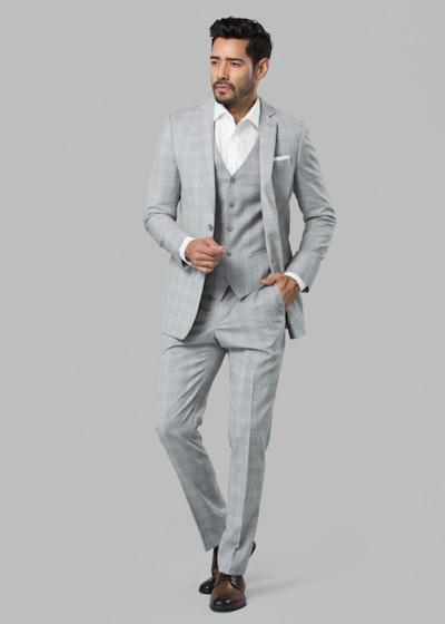 Gray Plaid Suit