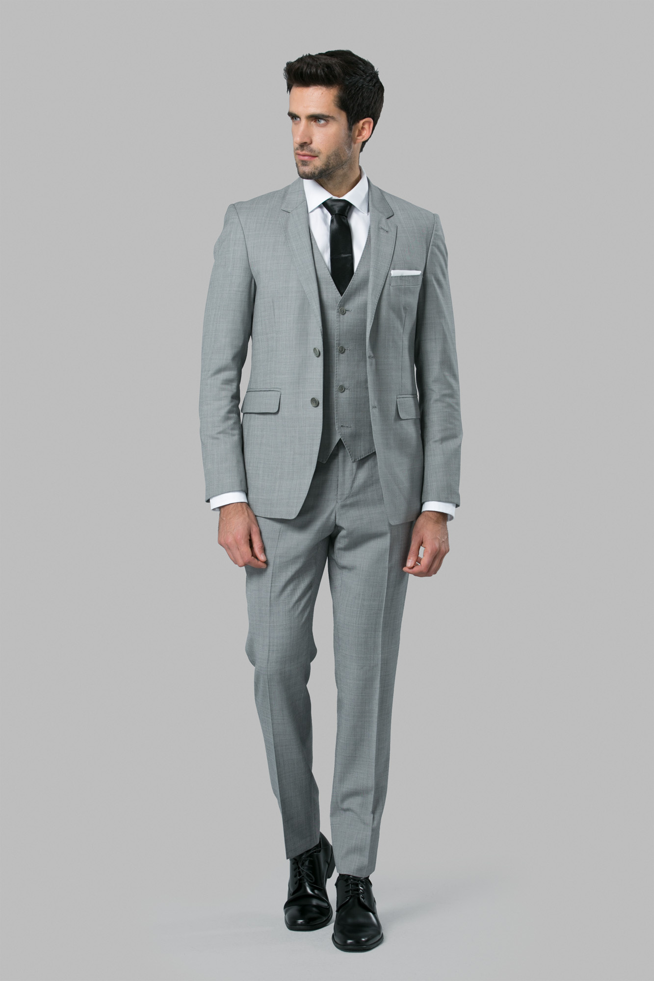 Grey 3 Piece Suit   Medium Grey Suit   Custom Suit Rentals