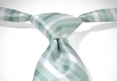 Mint Pre-Tied Striped Tie