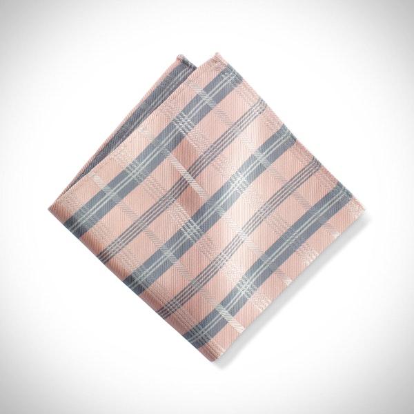 Petal Plaid Pocket Square
