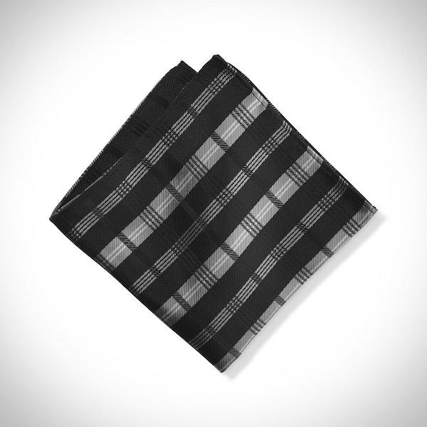 Black Plaid Pocket Square