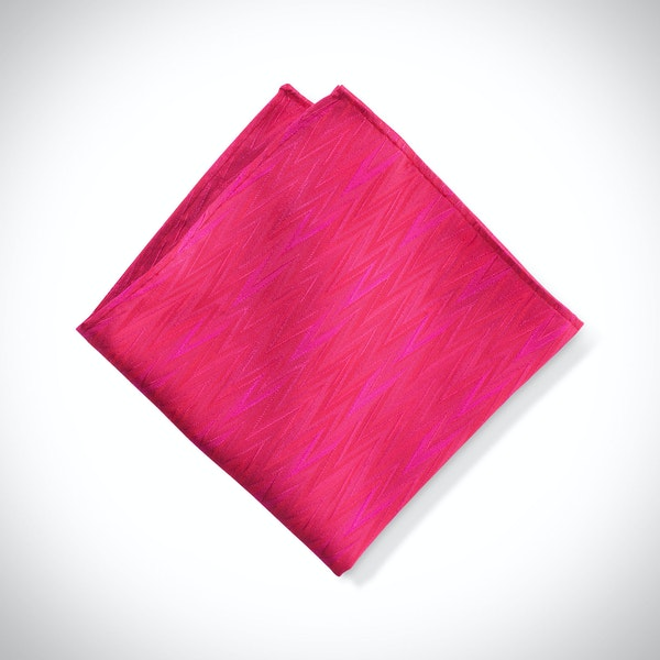 Watermelon Zig Zag Pocket Square