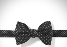 Black and White Pin Dot Pre-tied Bow Tie
