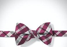 Sangria Plaid Pre-Tied Bow Tie