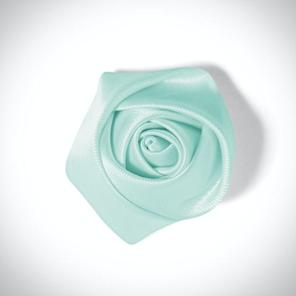 Mint Rose Lapel Pin