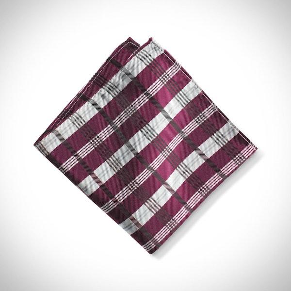 Sangria Plaid Pocket Square