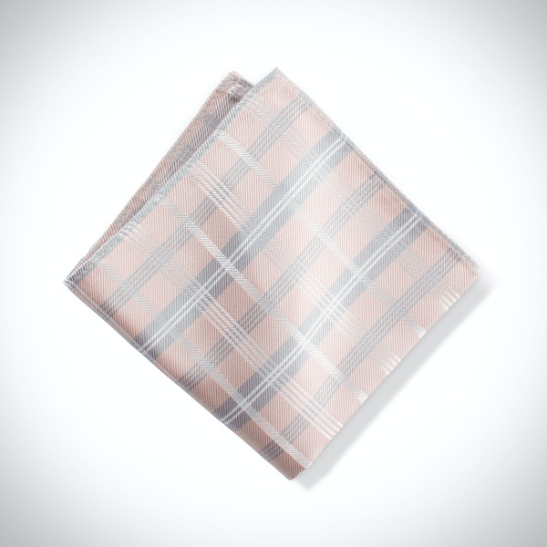Biscotti Plaid Pocket Square