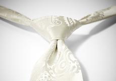 Ivory Paisley Pre-Tied Tie