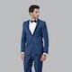 Blue Edge Notch Lapel Tuxedo