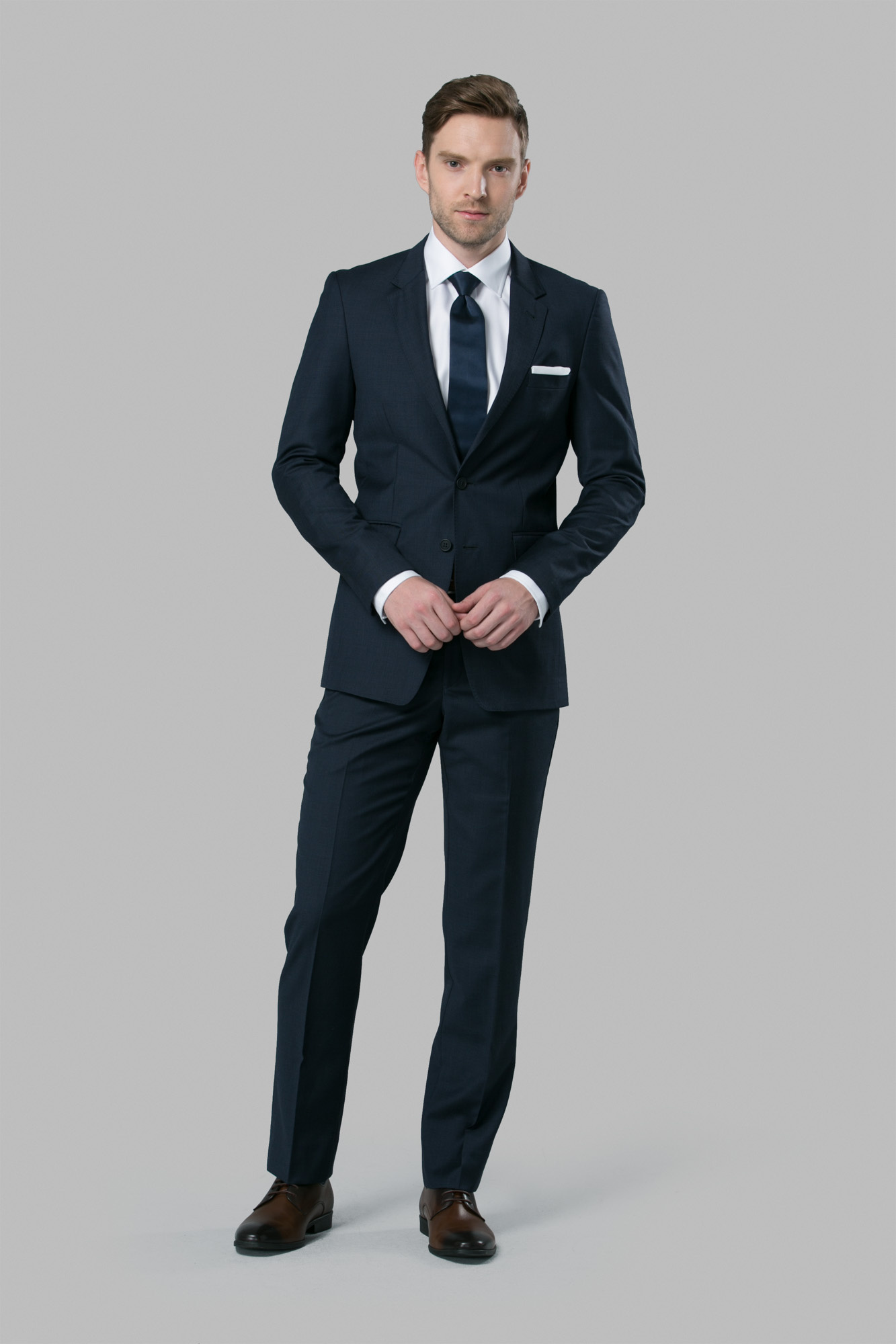 Blue Wedding Suit | Michael Kors Slim Fit Suit | Suits to Rent