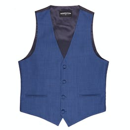 Blue Edge Lapel Tuxedo Vest