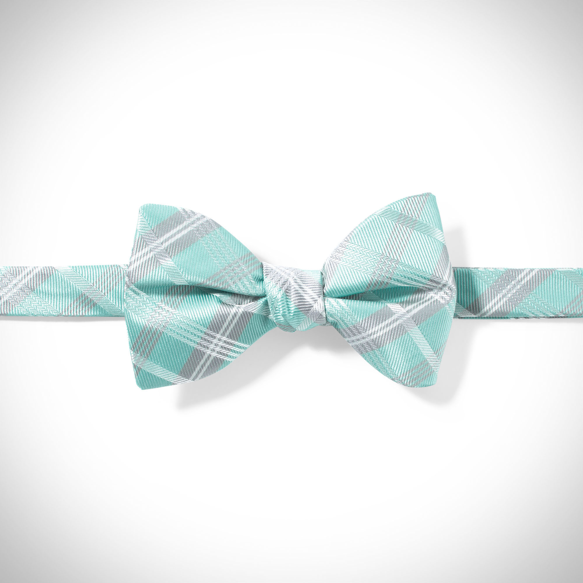 9250f9285d5 Tiffany Blue Plaid Pre-Tied Bow Tie