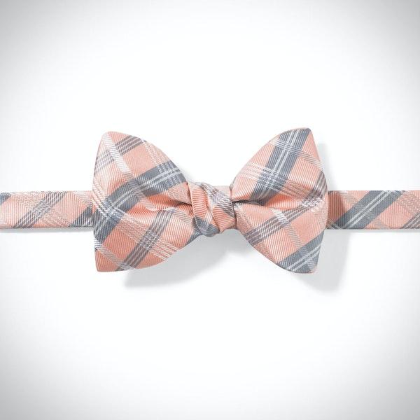 Bellini Plaid Pre-Tied Bow Tie