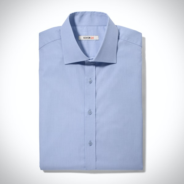 Glacier Blue Spread Collar Shirt