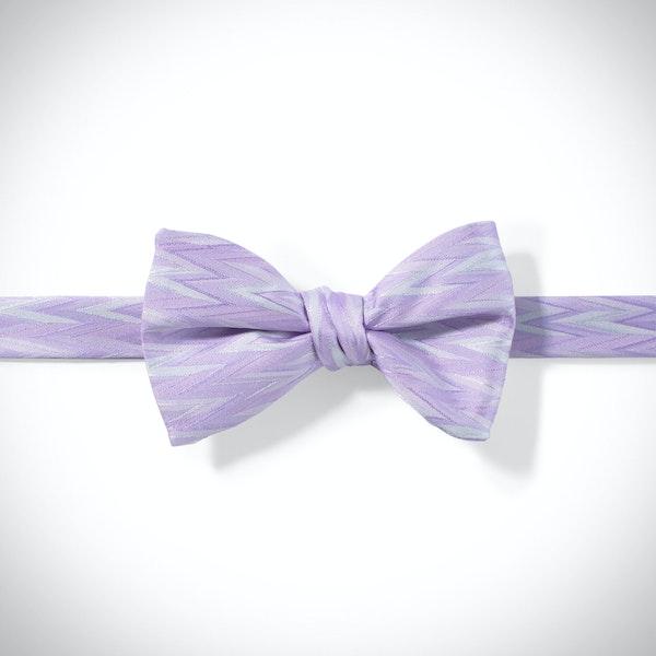 Lilac Zig Zag Pre-Tied Bow Tie