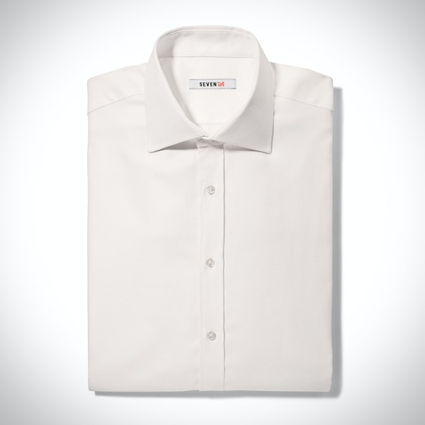 Ivory Spread Collar Shirt