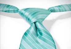 Tiffany Blue Pre-Tied Striped Tie