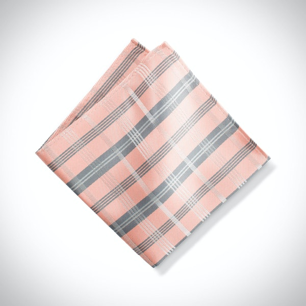 Bellini Plaid Pocket Square